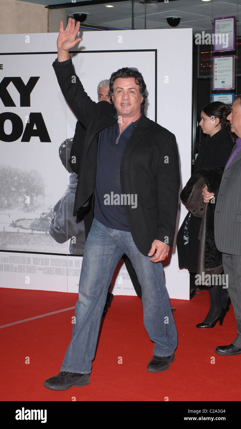 Sylvester Stallone Rocky Balboa UK film premiere at the Vue West End - Arrivals London, England - 16.01.07 Rob Cable - Stock Image