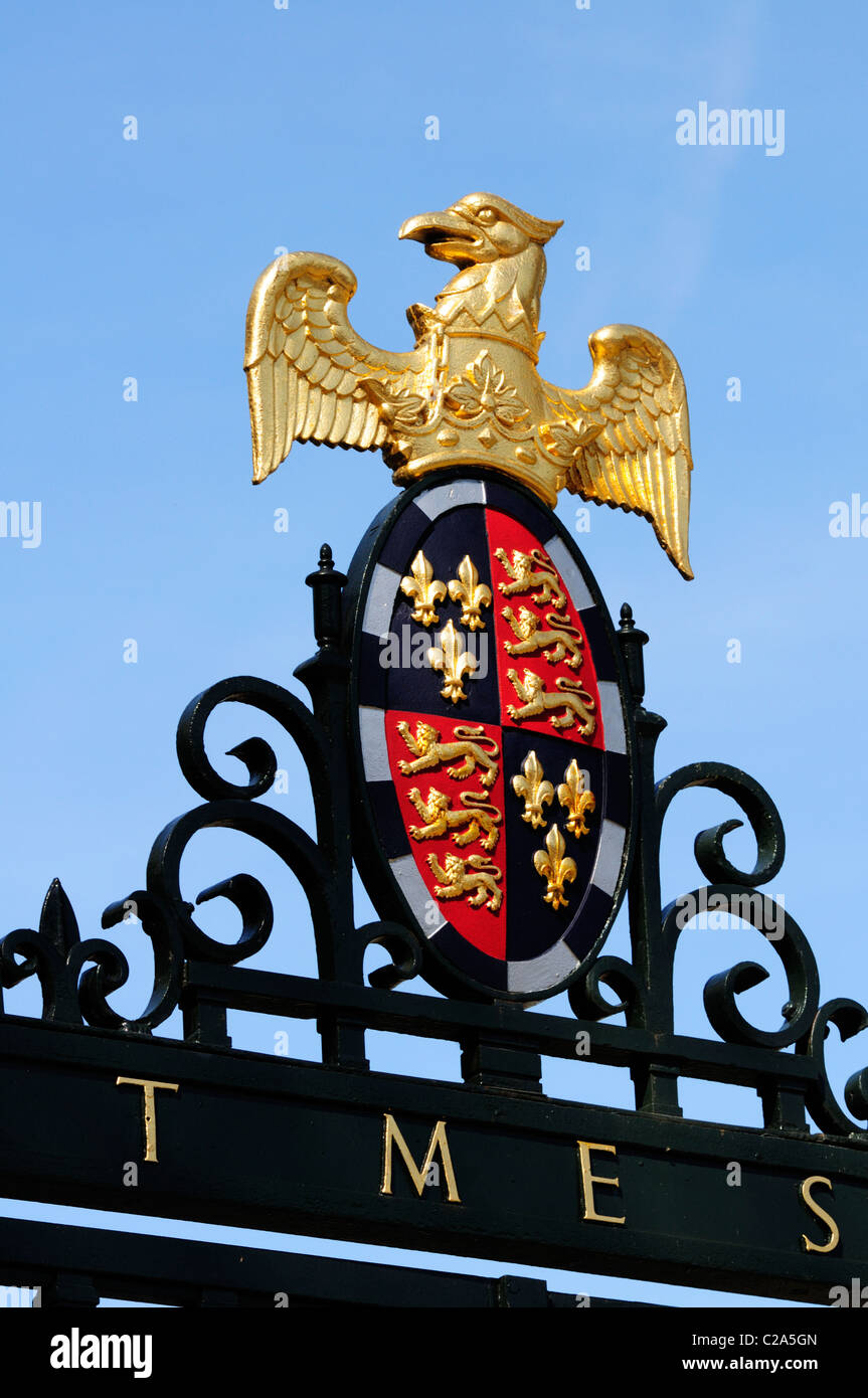 St Johns College Coat of Arms, Cambridge, England, Uk - Stock Image
