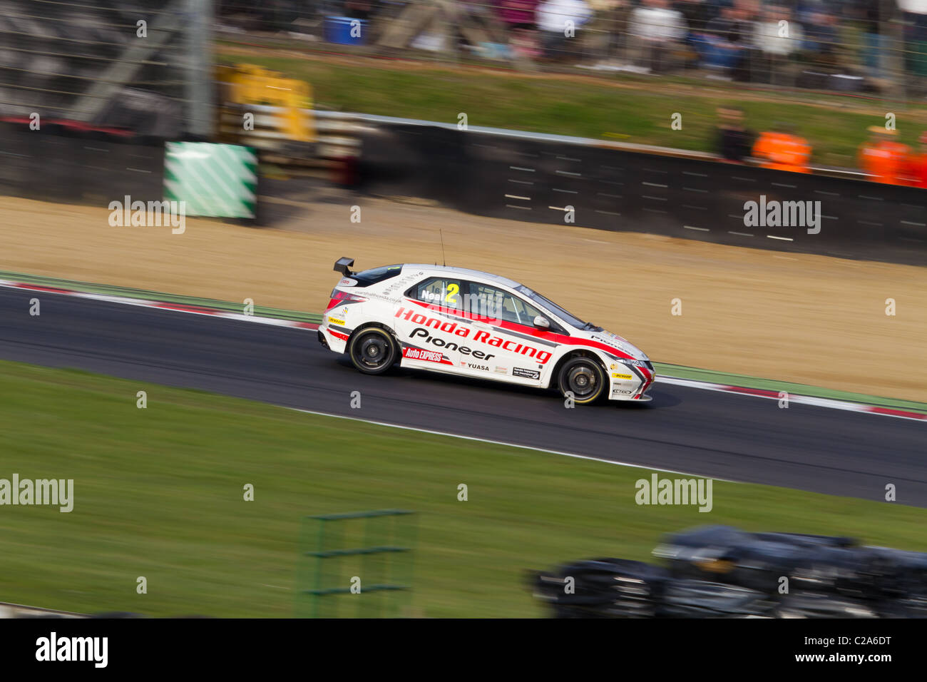 Matt Neal's Honda Civic at the 2011 opening round of the British Touring Car Championship at Brands Hatch. - Stock Image