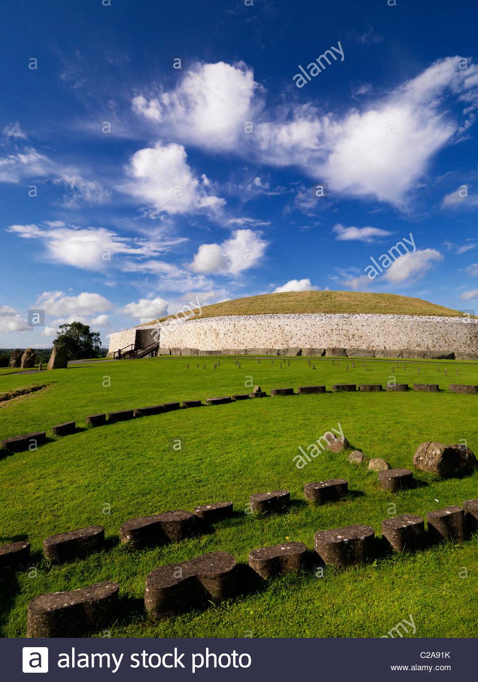 Newgrange prehistoric monument in County Meath, Ireland. - Stock Image