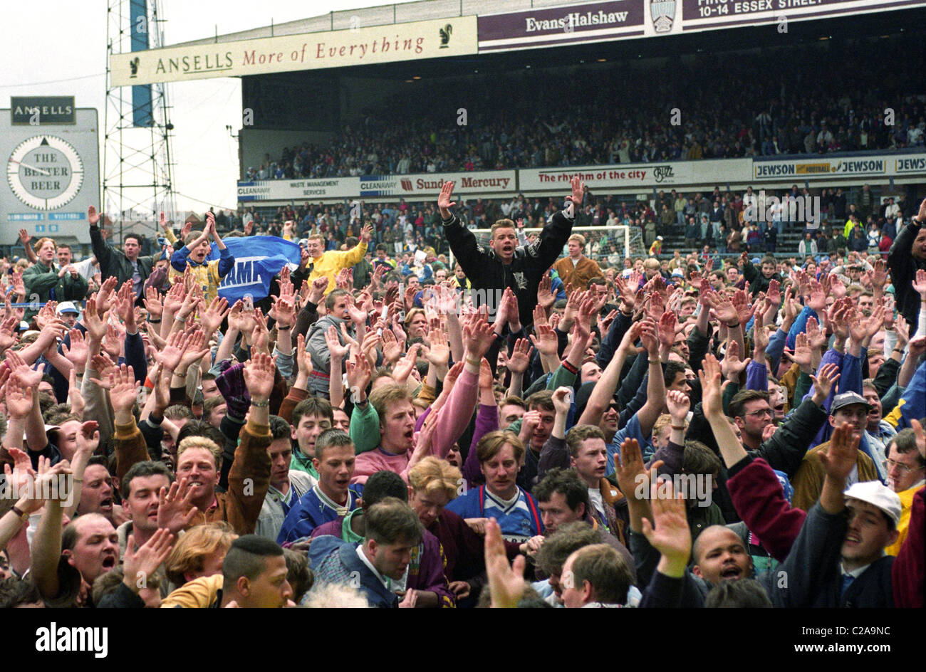 BIRMINGHAM CITY V SHREWSBURY TOWN 25 4 92 1 0 Birmingham Fans Celebrate Promotion