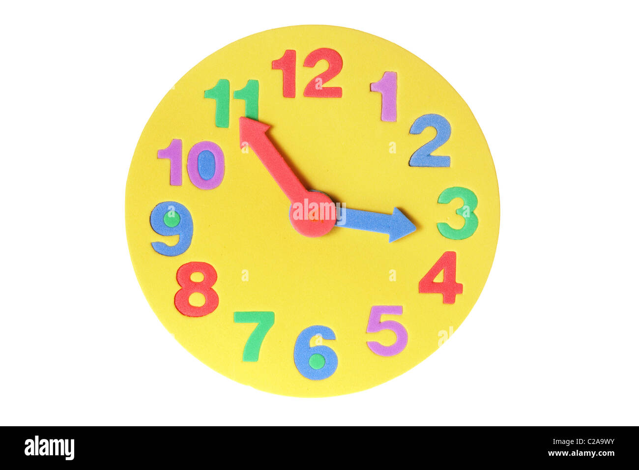 Toy Clock - Stock Image