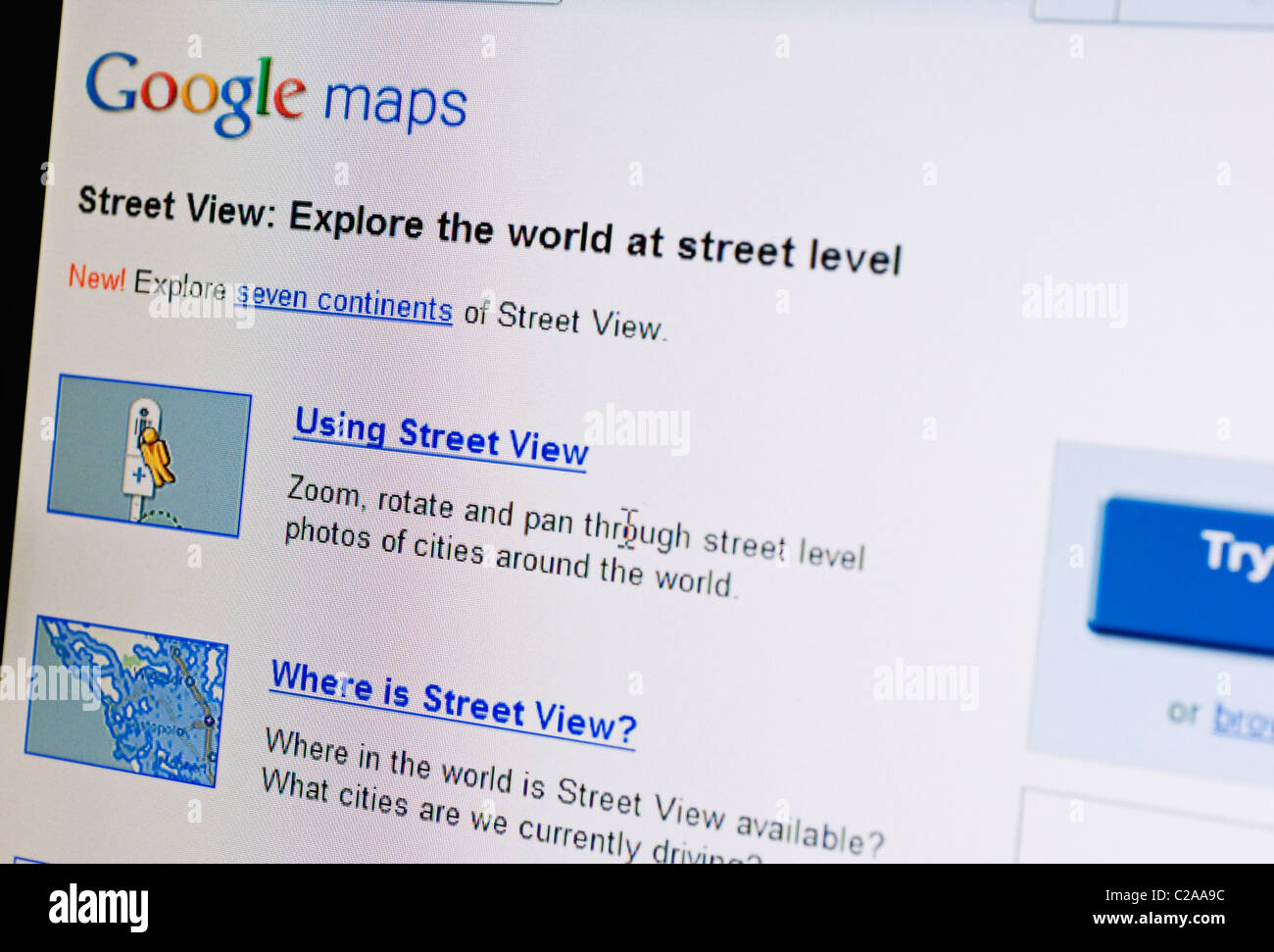 Google Maps Website Stock Photos & Google Maps Website Stock