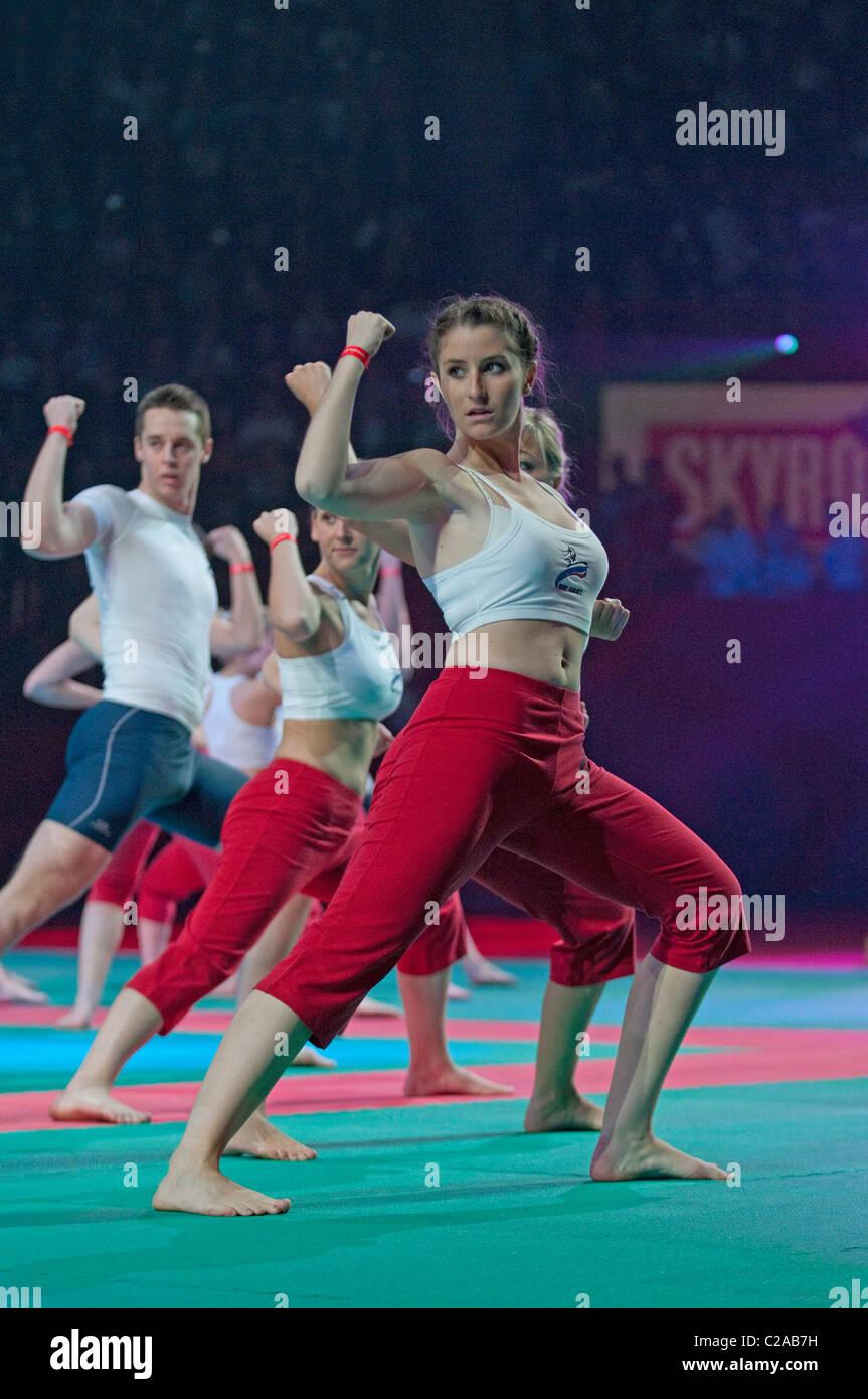 Body Karate at Festival des Arts Martiaux de Bercy, Paris. - Stock Image