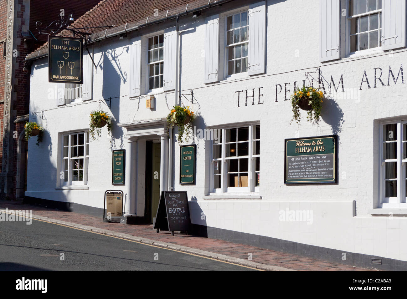 The Pelham Arms - a Hall and Woodhouse pub in Lewes, East Sussex Stock Photo
