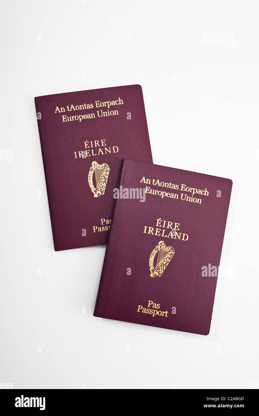 Irish passports. European Union - Stock Image