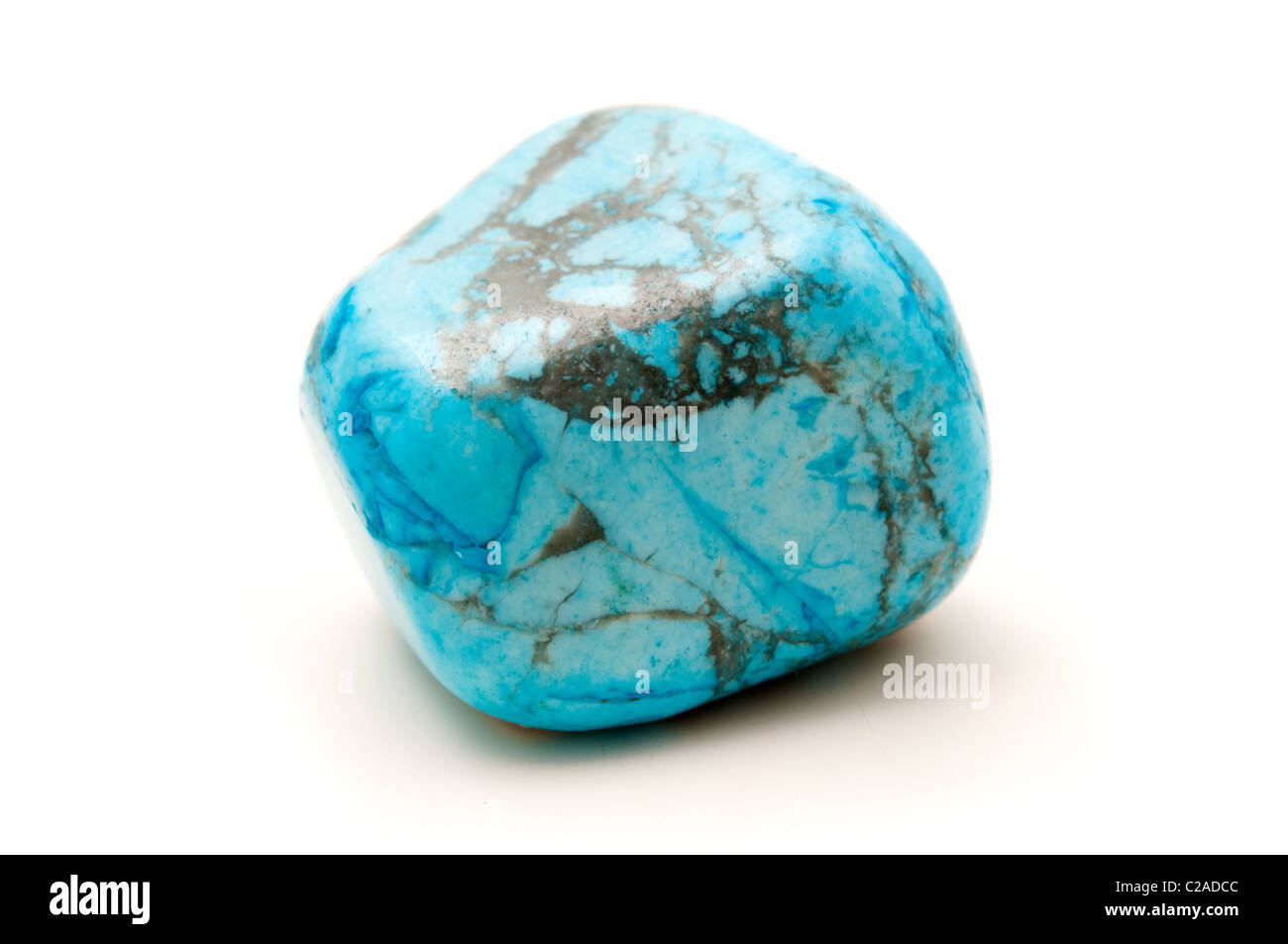 Turquoise on a white background - Stock Image