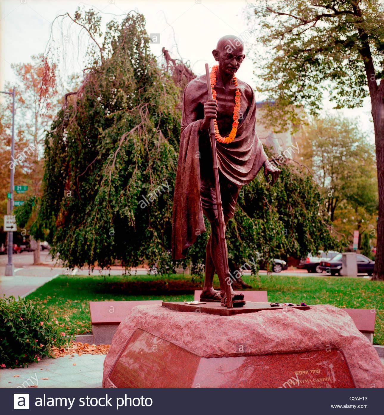 The Mohandas Gandhi Memorial on Massachusetts Ave. and 21st Street. - Stock Image