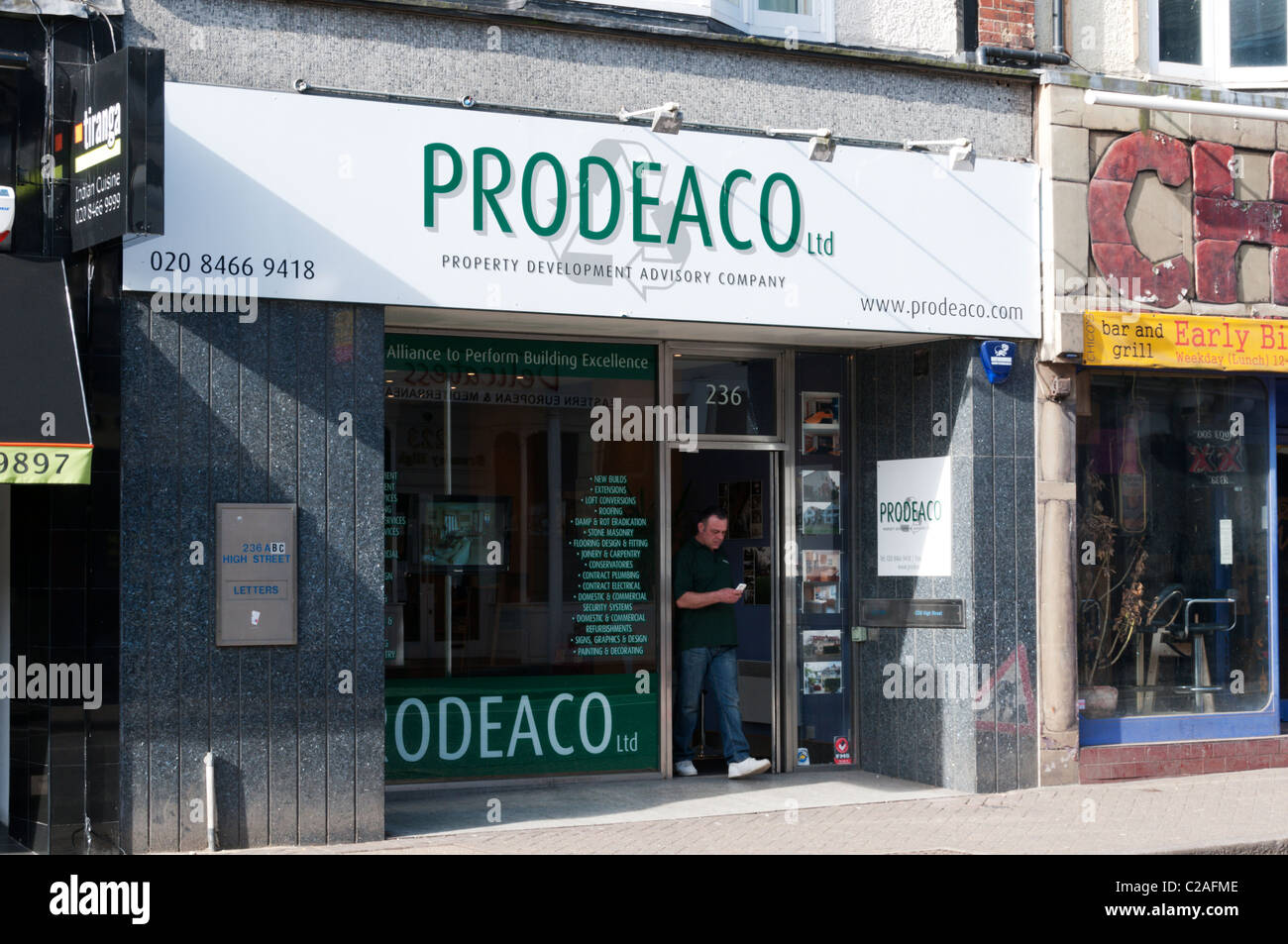 PRODEACO property advice centre in Bromley, South London. - Stock Image