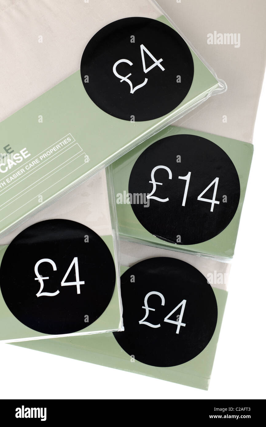 Different circular price tag labels - Stock Image