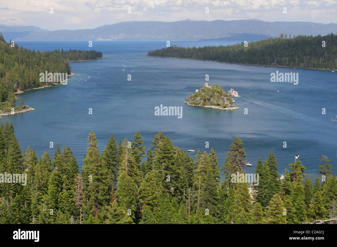 Emerald Bay Lake Tahoe California Stock Photo