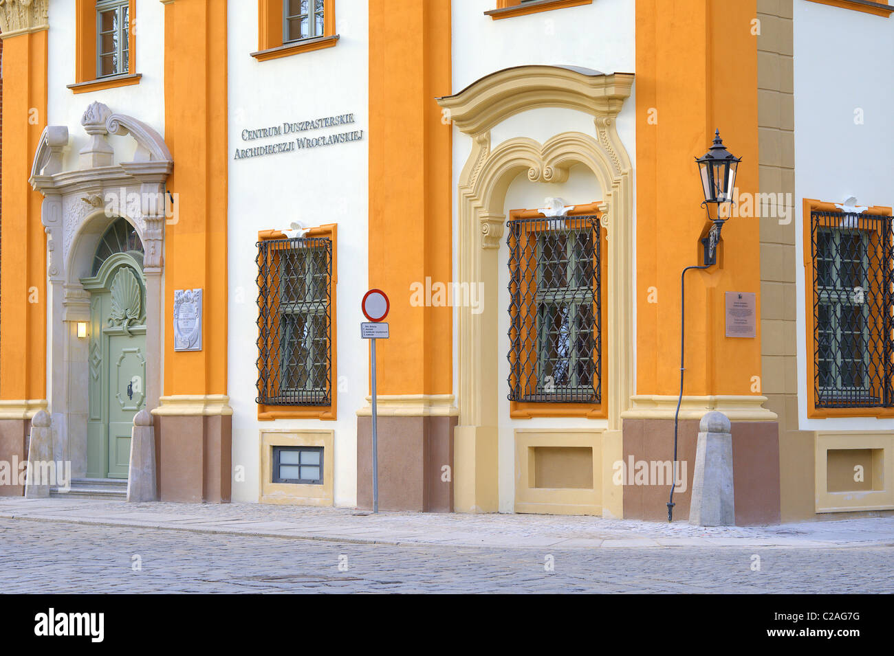 Pastoral office Archdiocese of  Wroclaw barocco building - Stock Image