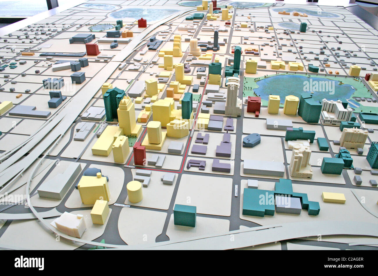 City scale model at Visitors Center, downtown Orlando Florida - Stock Image