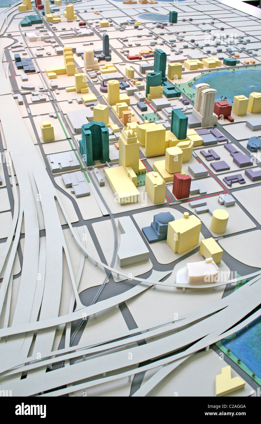 City scale model at Visitors Center, downtown Orlando Florida Stock Photo