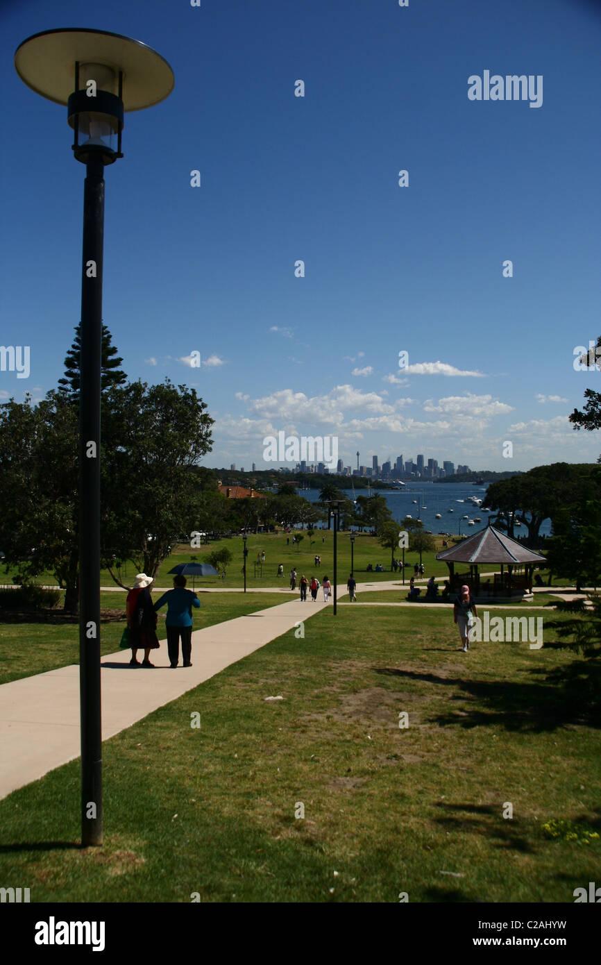watsons bay park Sydney harbour Australia - Stock Image