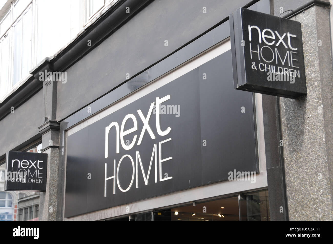 Next Home Store Logo Shop Sign Furnishings Fabrics Rooms Decoration Lamps  Sofas Beds Tables Chairs