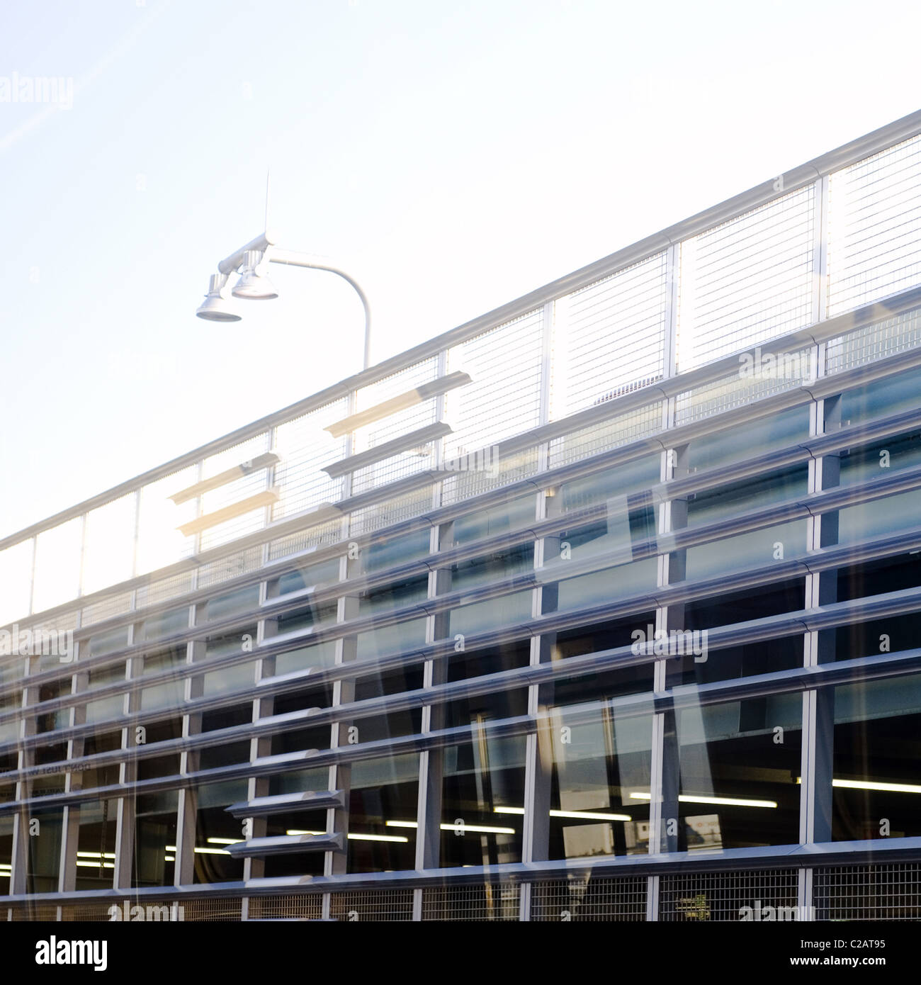 Modern parking deck - Stock Image