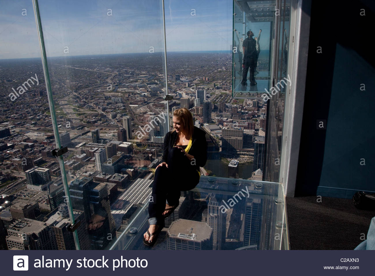 A view from the 103 floor of Willis Tower or the old Sears Tower. - Stock Image