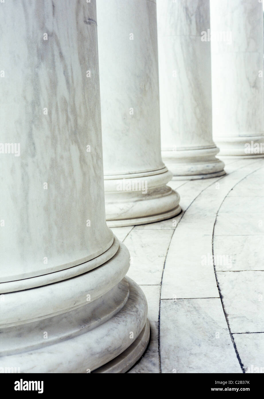 Marble columns, cropped - Stock Image