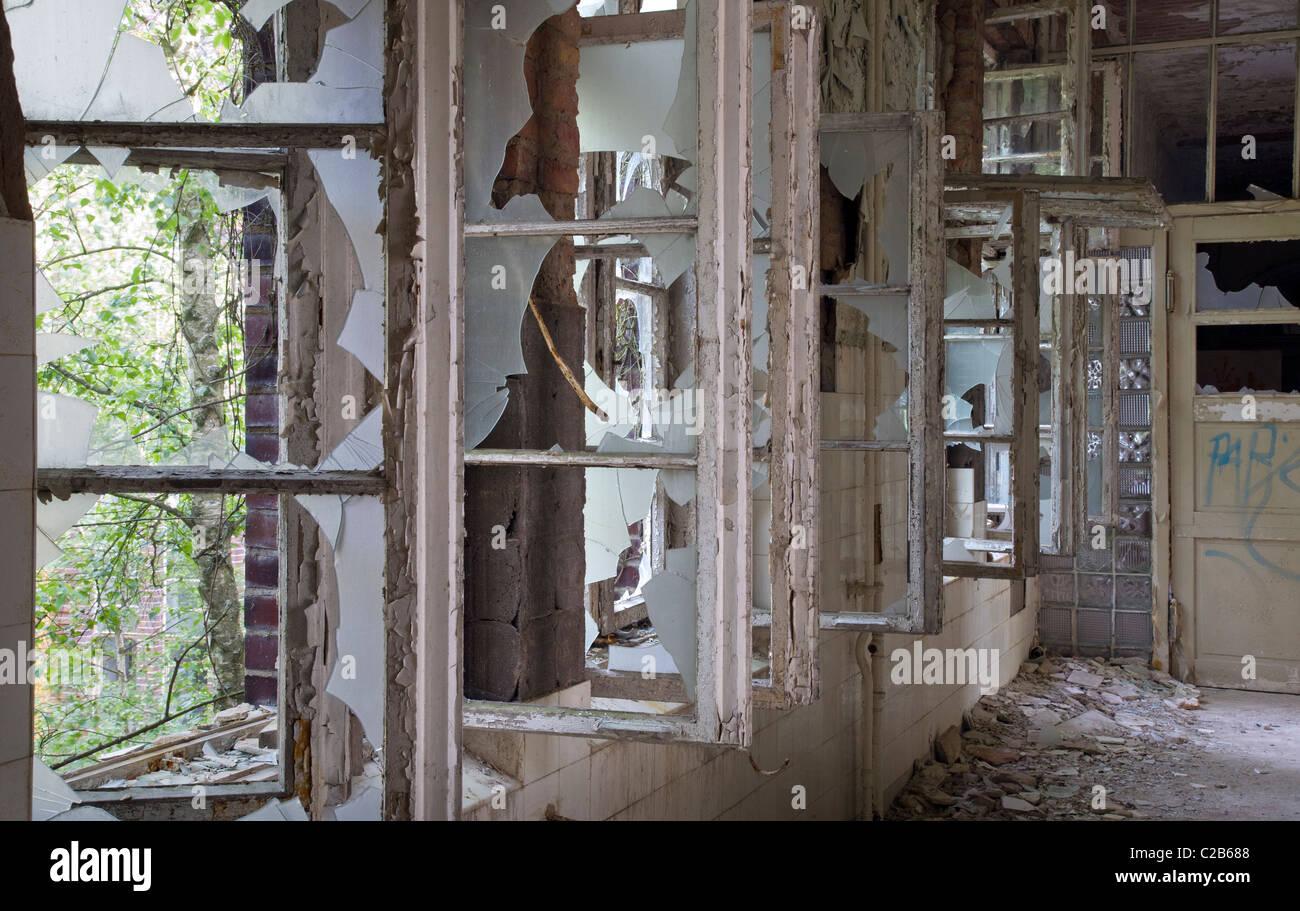 Abandoned Hospital, Brandenburg, Germany - Stock Image