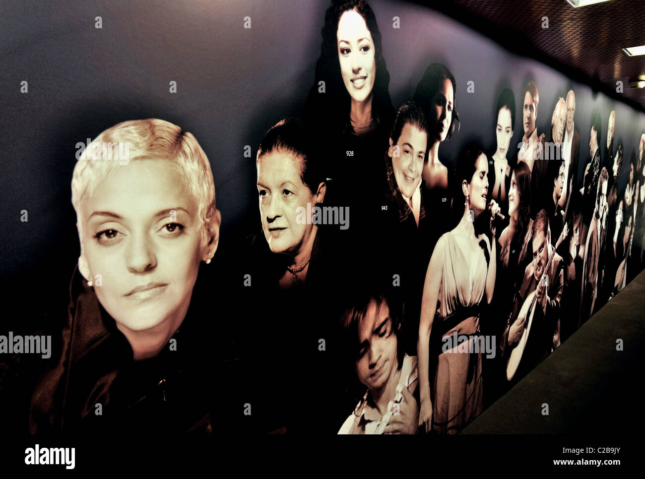Portugal, Lisbon: Modern Fado interprets illustrated in the Museu do Fado - Stock Image