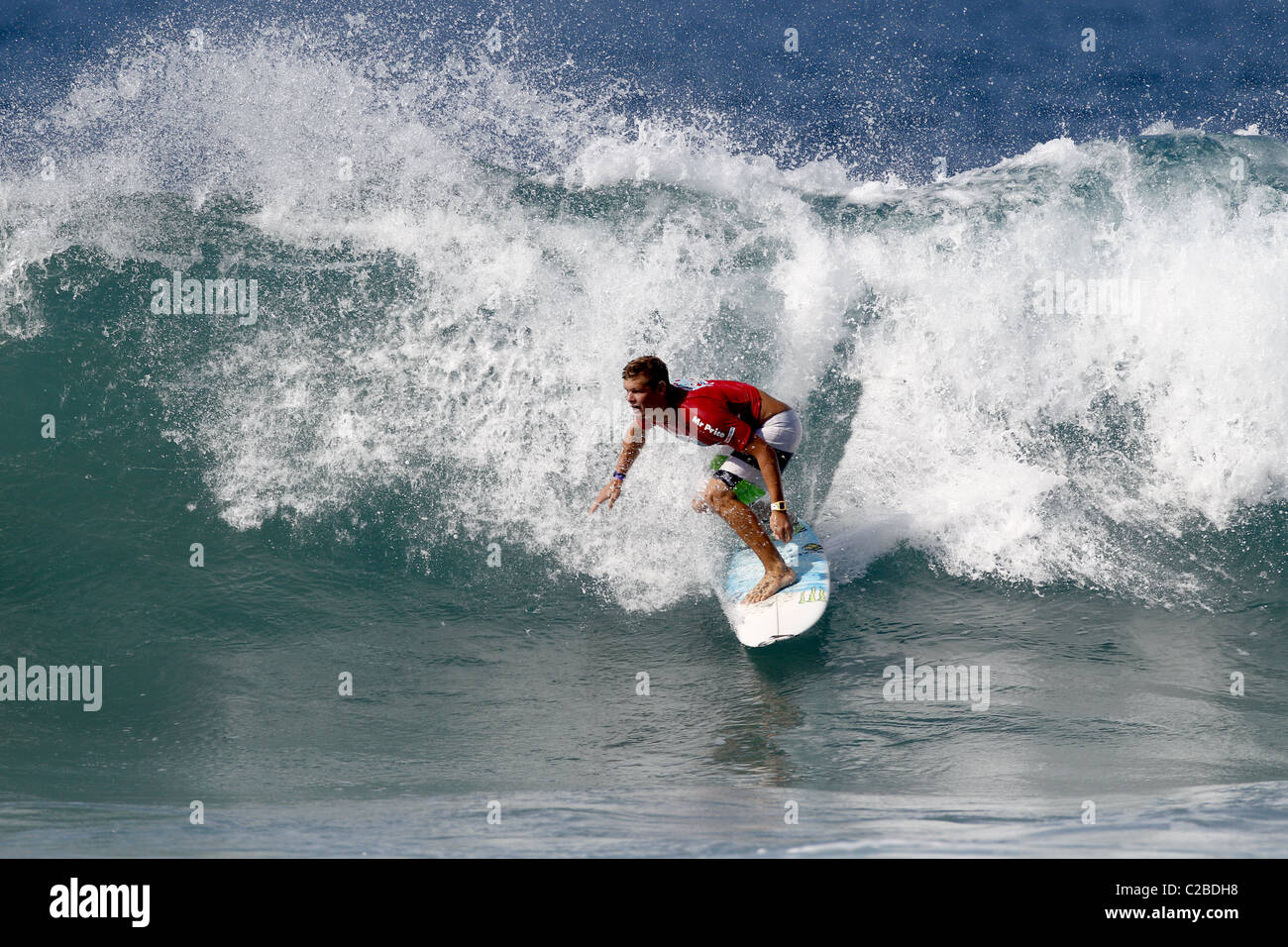 DALE STAPLES SOUTH AFRICAN PRO SURFER SOUTH AFRICAN PRO SURFER BALLITO NATAL SOUTH AFRICA 08 July 2010 - Stock Image