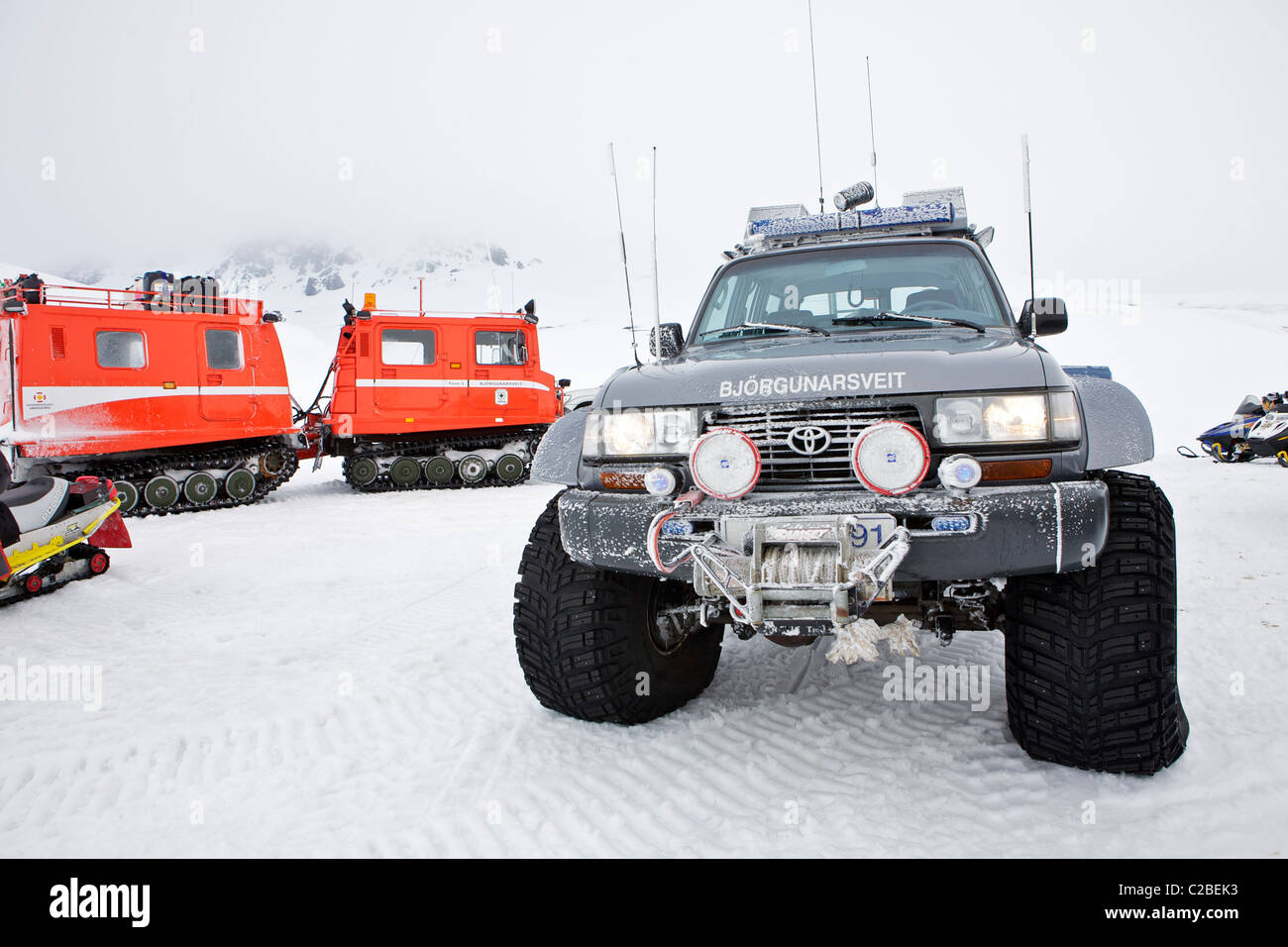 Icelandic search and rescue, super truck with 44 inch tires - Stock Image