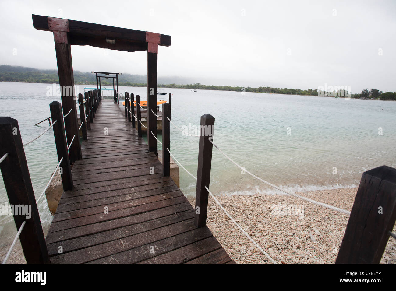Vanuatu South Pacific Efate island Pier - Stock Image