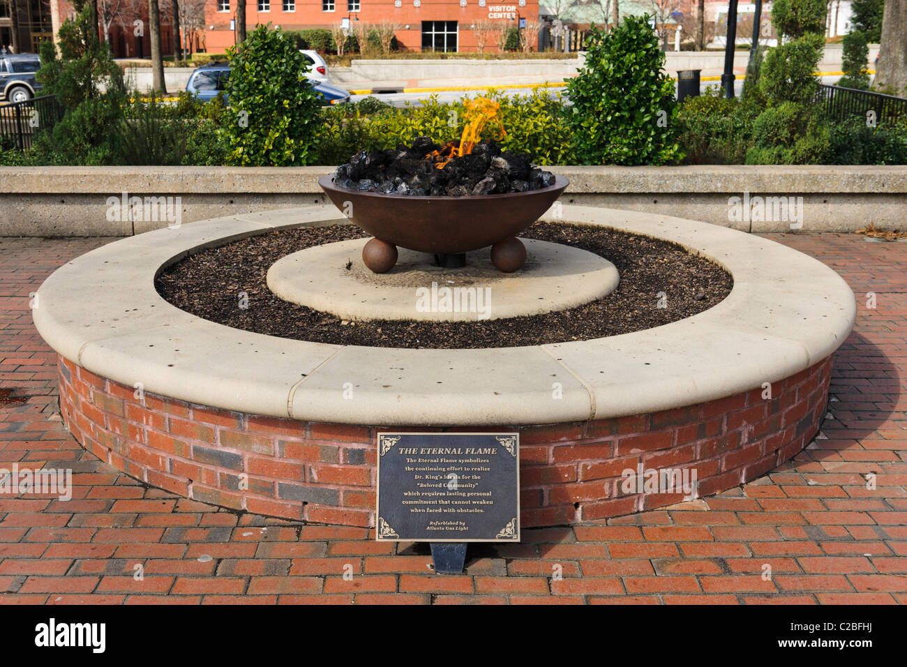 Eternal Flame, Sweet Auburn, Atlanta - Stock Image