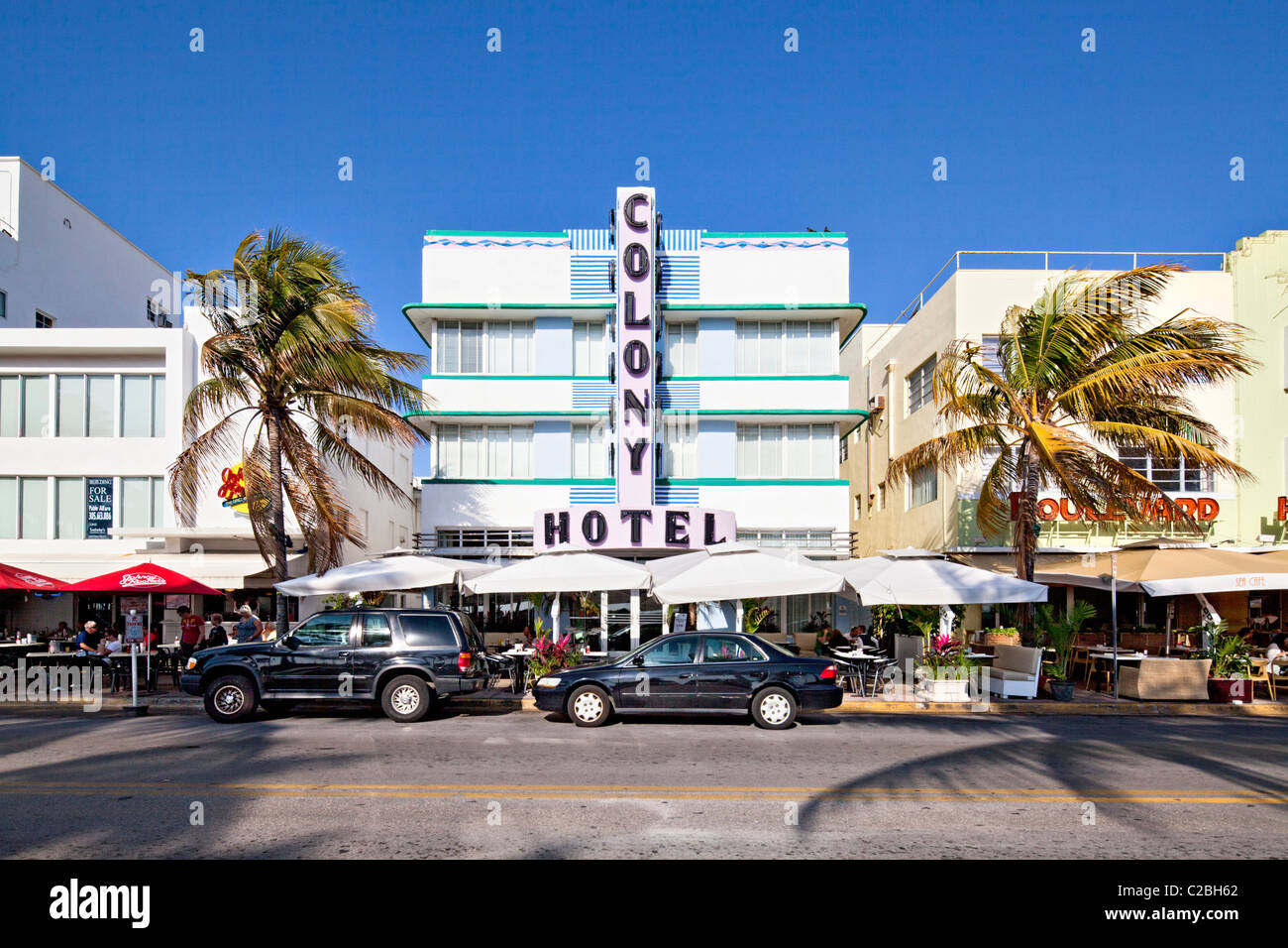 Colony Hotel, South Beach, Miami - Stock Image