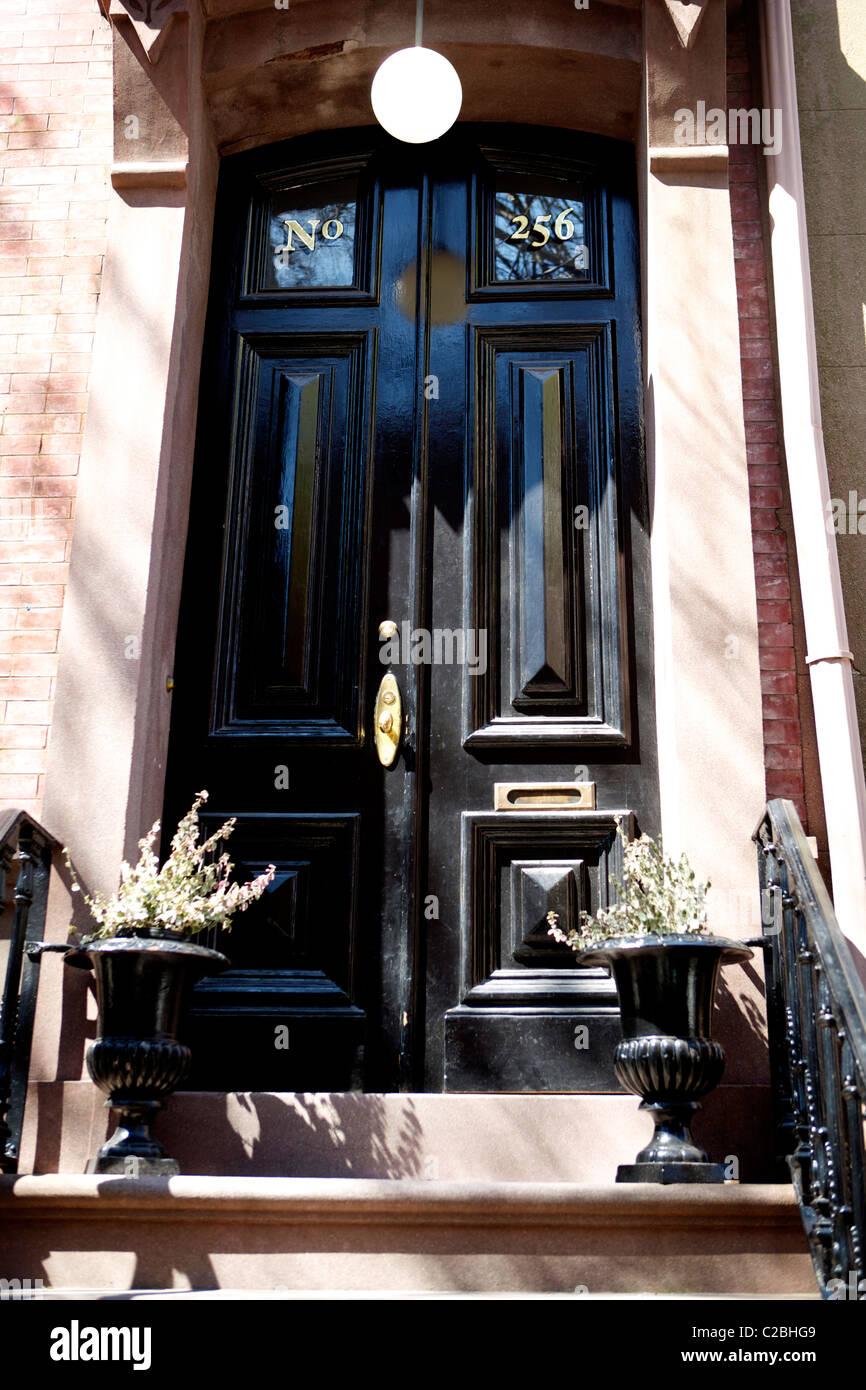 Brownstone Front Door Stock Photos Brownstone Front Door Stock