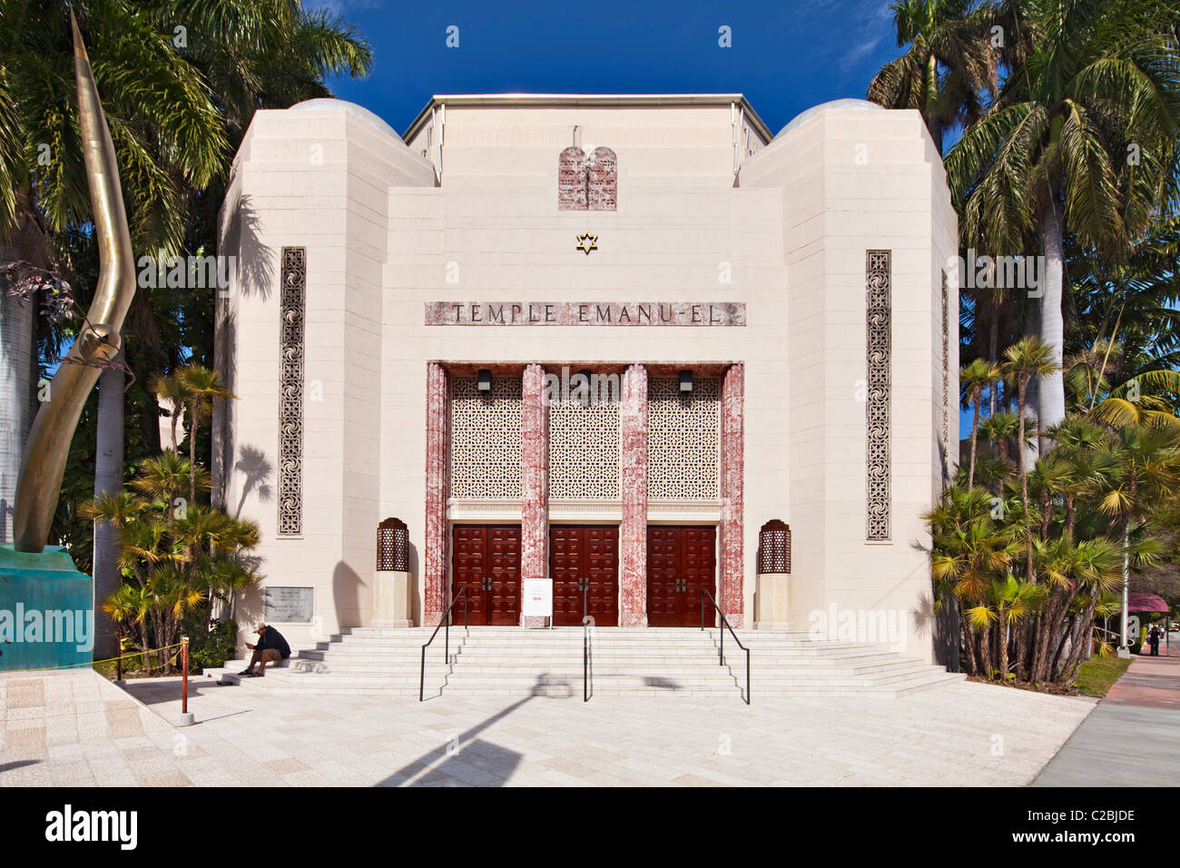 Temple Emanu-El South Beach Synagogue, Miami - Stock Image