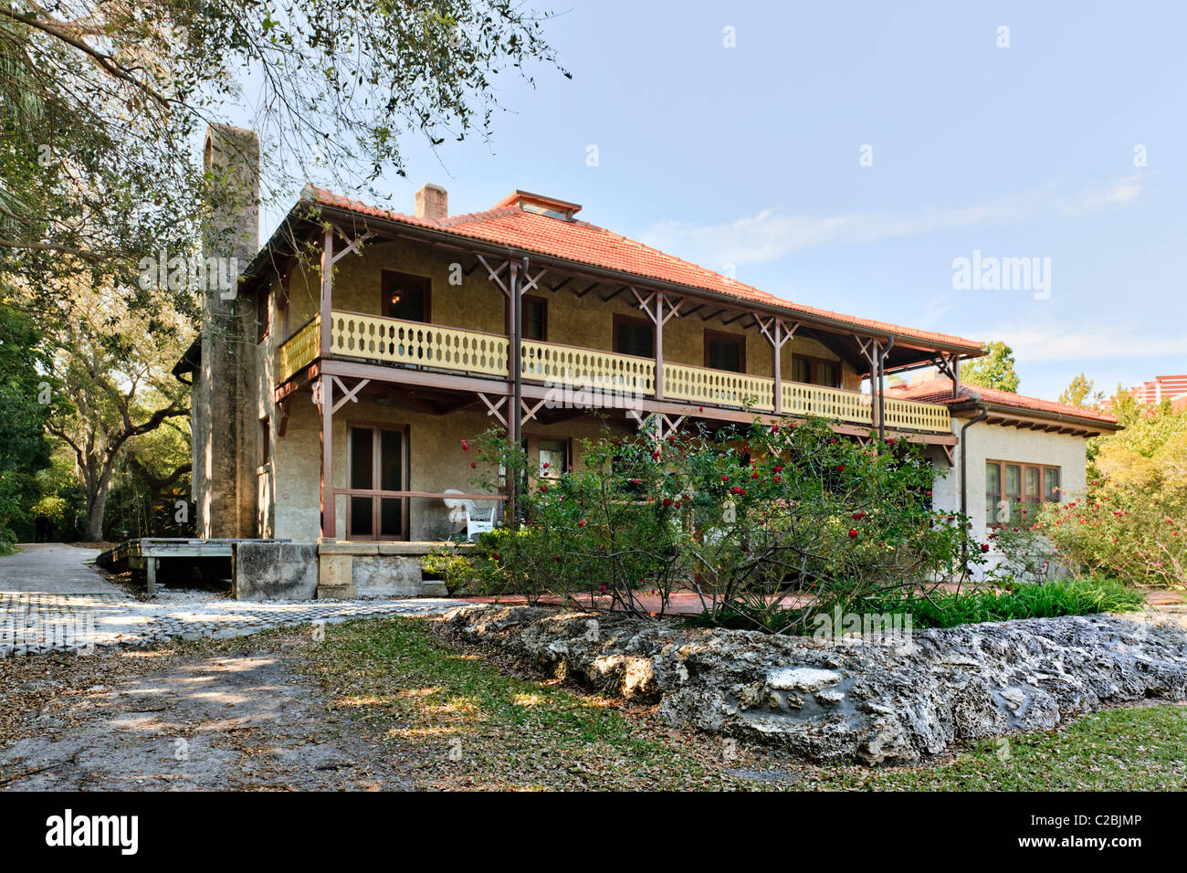 Ralph Middleton Munroe House, Miami - Stock Image