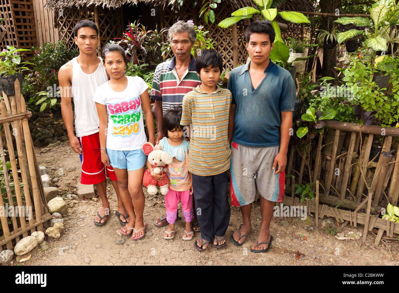 Philippines Family Group Outside Home Stock Photos  for Happy Filipino Family At Home  lp4eri