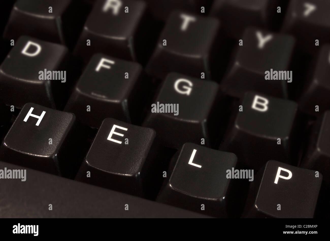 Computer Help Desk - Stock Image