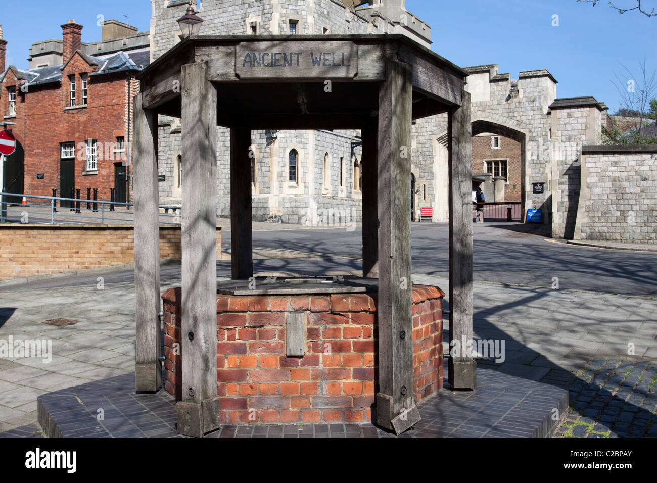 Ancient well, Windsor, Berkshire, England - Stock Image