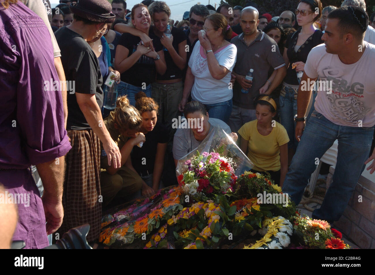 Thursday 17th August 2006 Kiryat Shmona North Israel The last Israel solider to be killed by the Hezballah in Lebanon - Stock Image