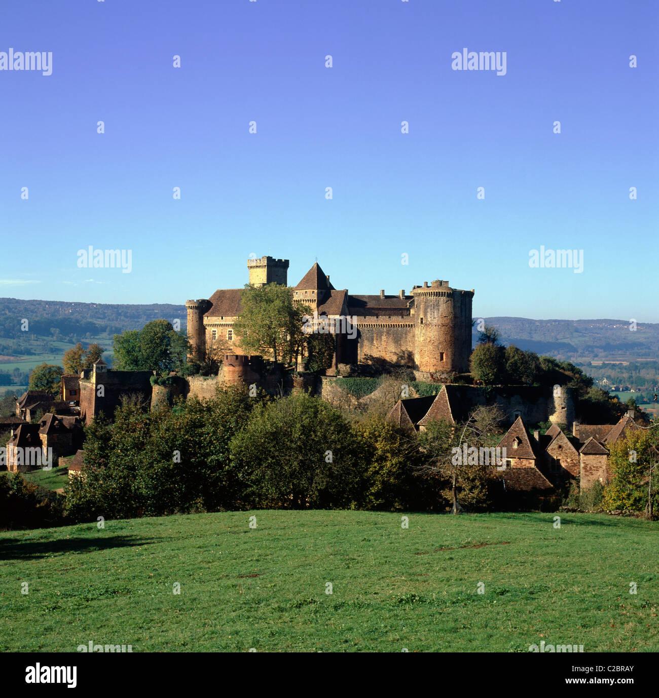 Bretenoux Dordogne France Stock Photo
