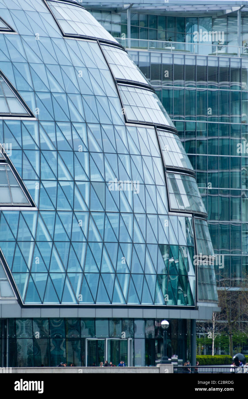 An abstract image of City Hall, home to Mayor of London, London Assembly and Greater London Authority GLA, London, - Stock Image
