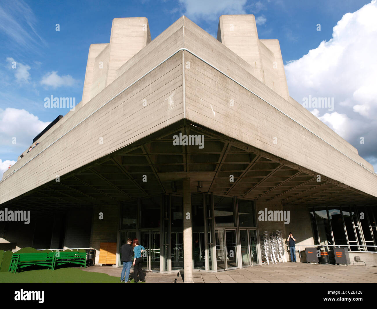 The Royal National Theater or as it is more generally known The National Theater the South Bank London - Stock Image