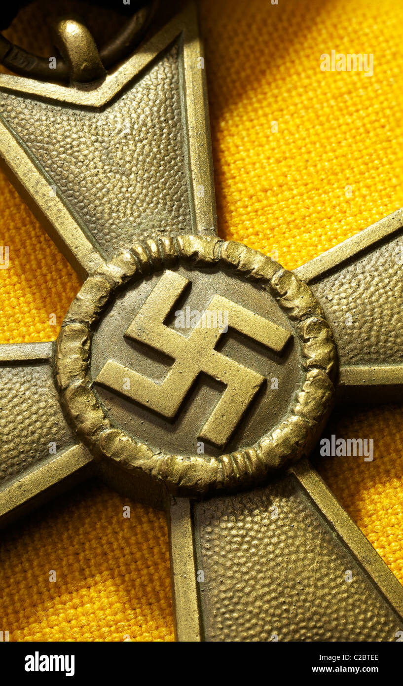 Nazi Merit Cross with Swastika - Stock Image