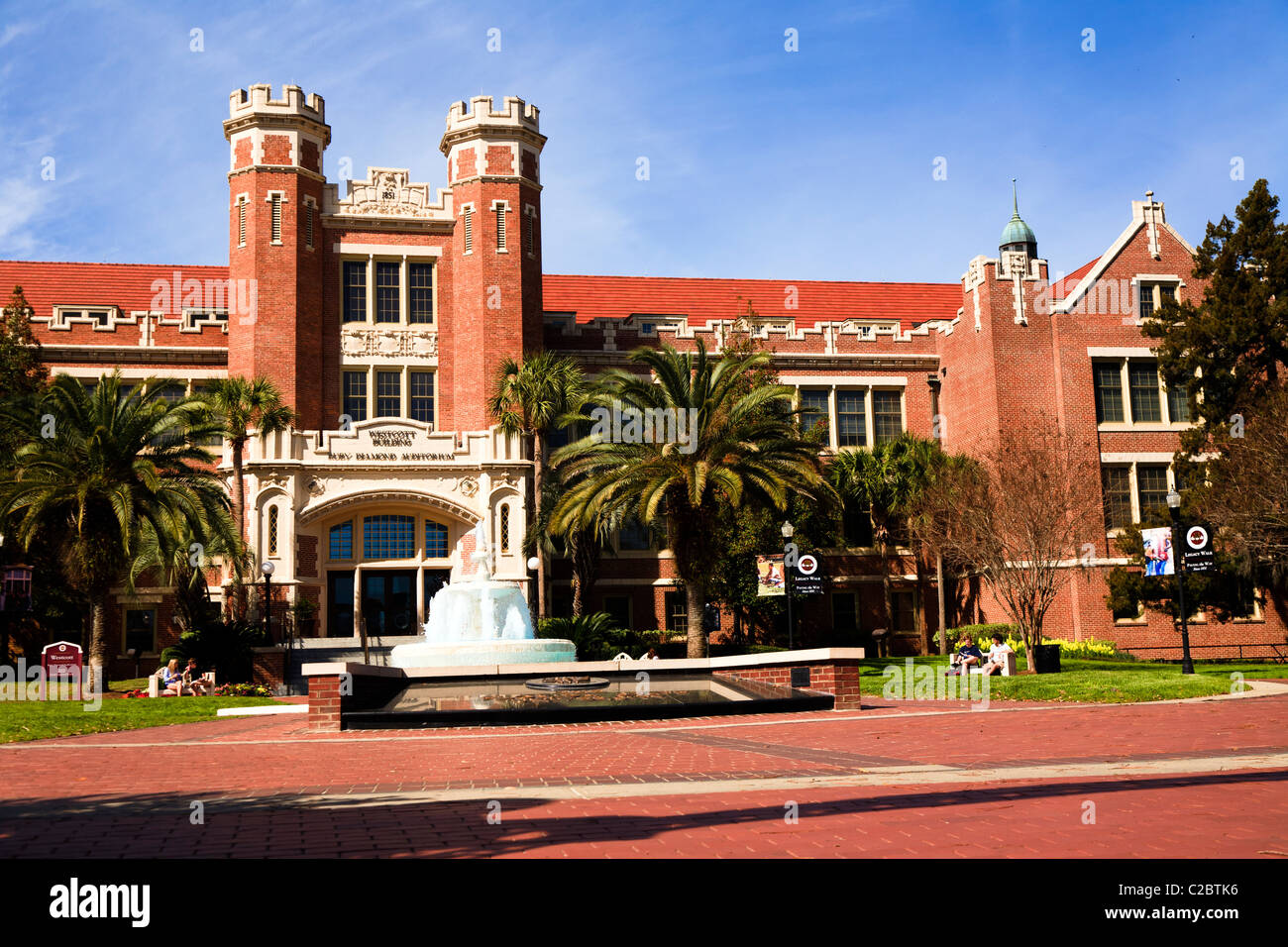 Westcott building of the Florida State University in Tallahassee, Florida, United States - Stock Image