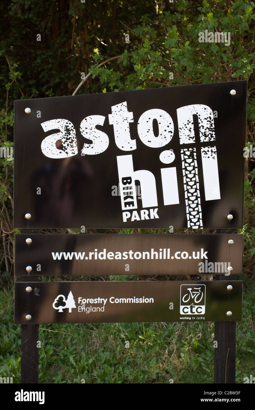 'Aston Hill Bike Park' is located in Wendover Woods on the ridge of the Chiltern Hills. - Stock Image