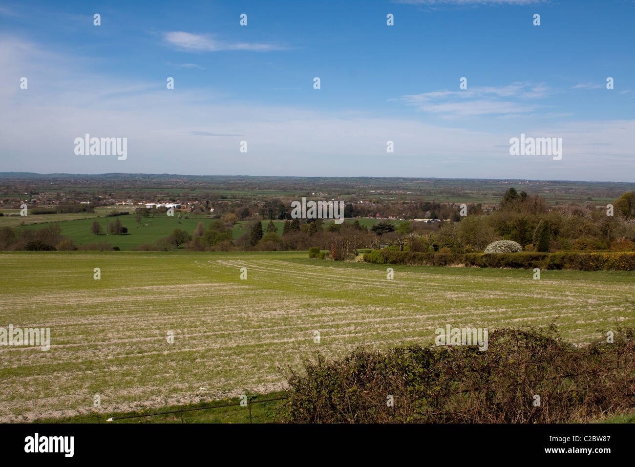 View across Aylesbury Vale from Ashton Hill, Wendover - Stock Image
