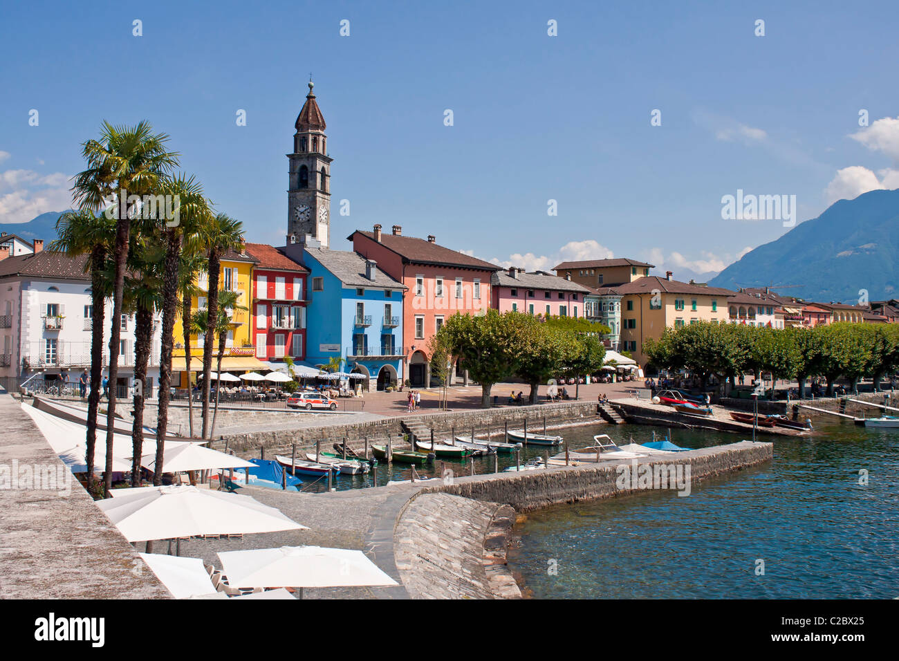 Ascona in Ticino, Switzerland - Stock Image