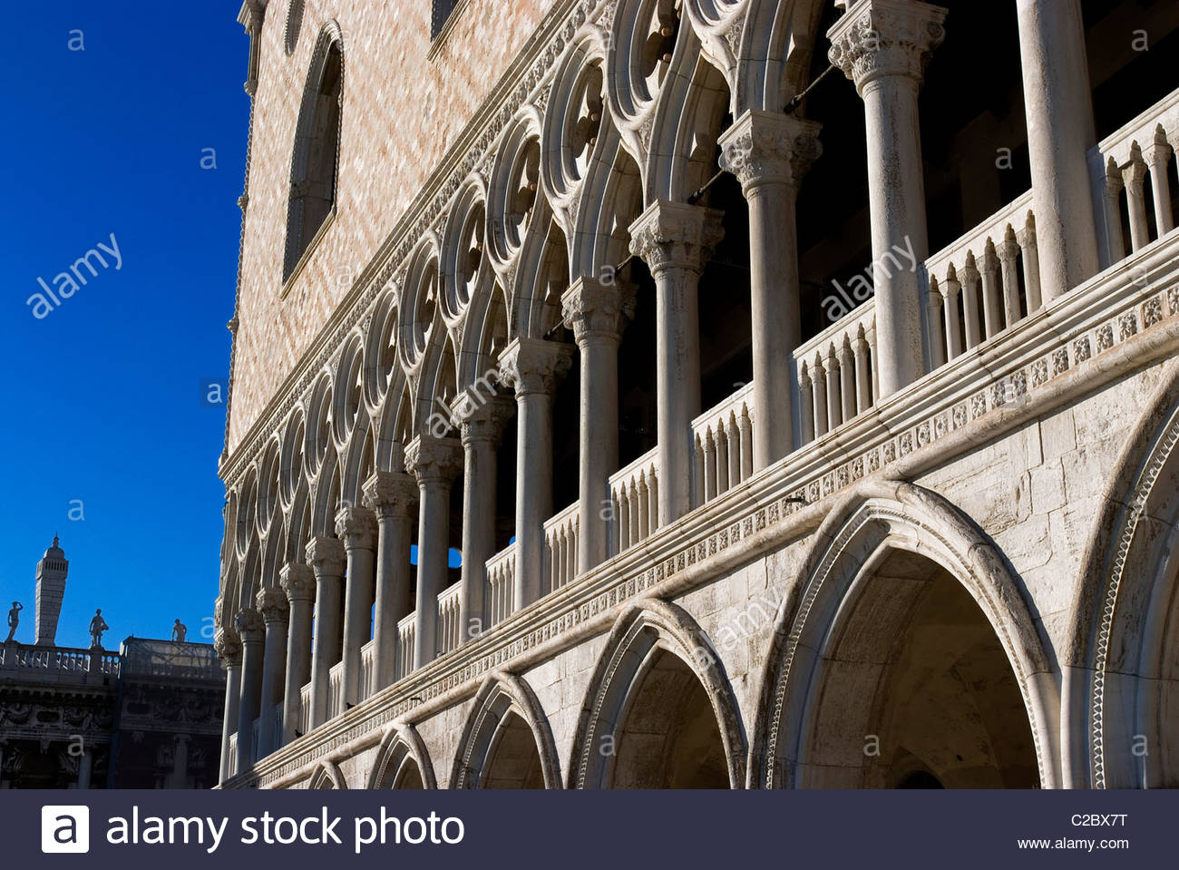 Ducal Palace in the Palazzo Ducale in Venice. - Stock Image