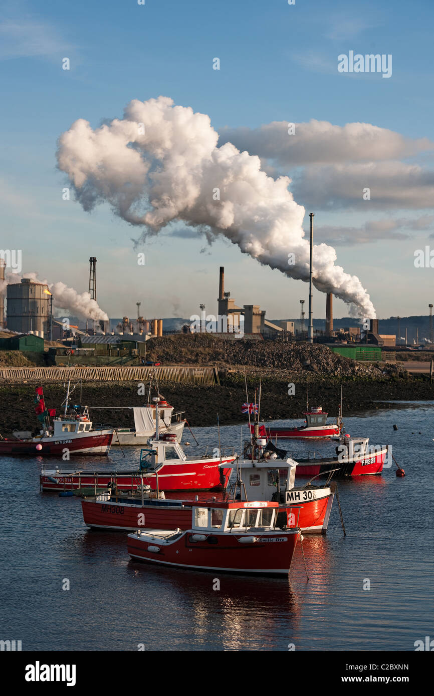 Paddy's hole South Gare river Tees - Stock Image
