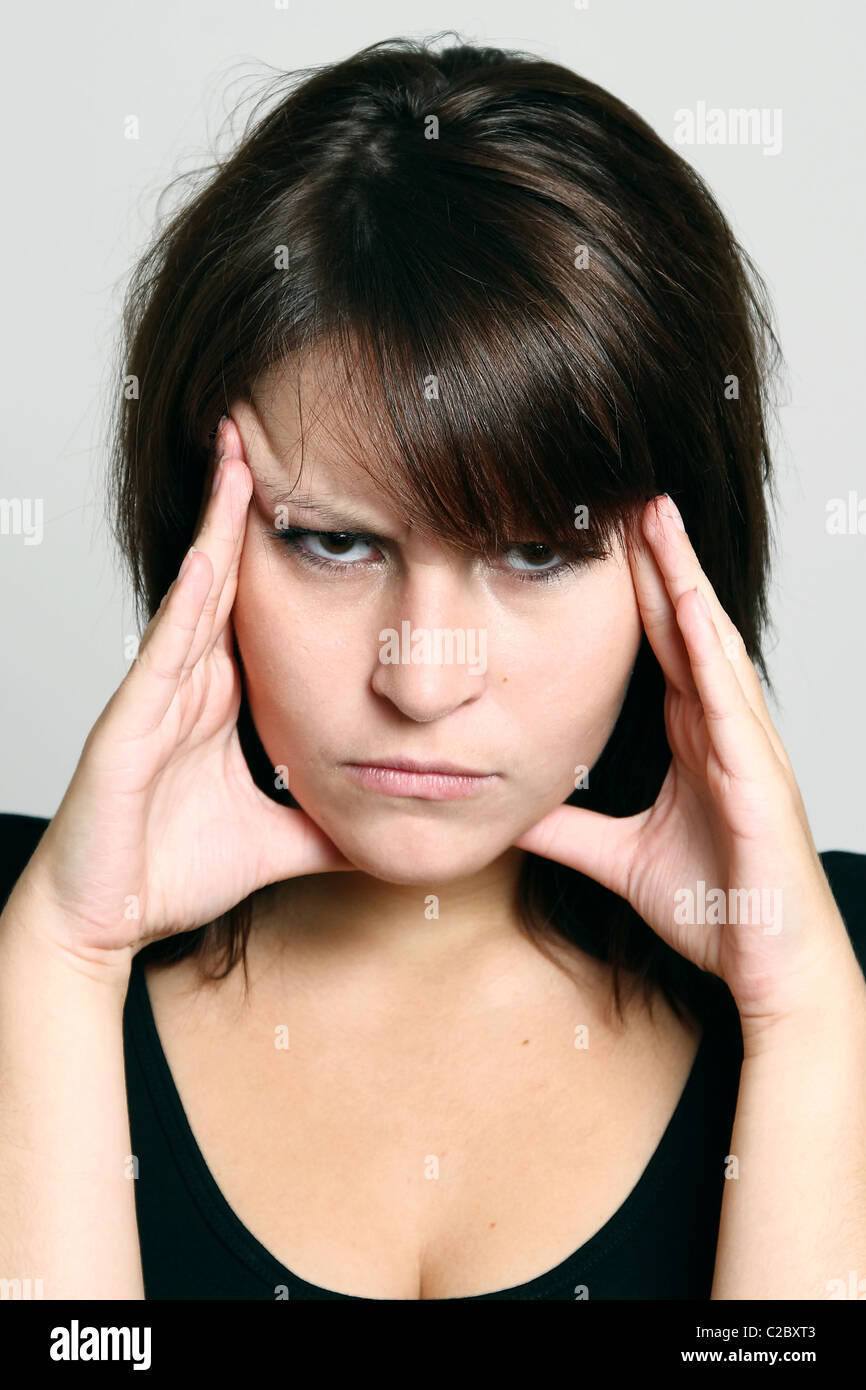 Symbolic picture: headache - Stock Image