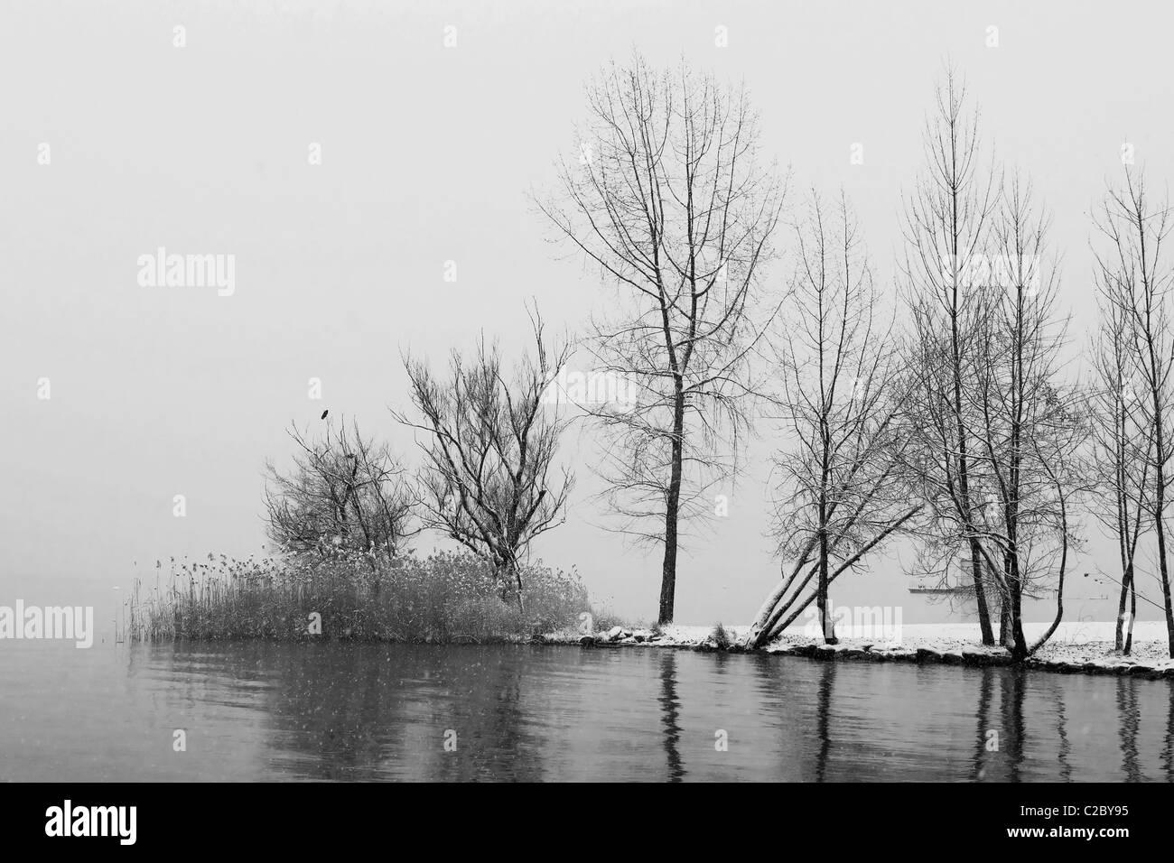 Winter in Ticino Stock Photo