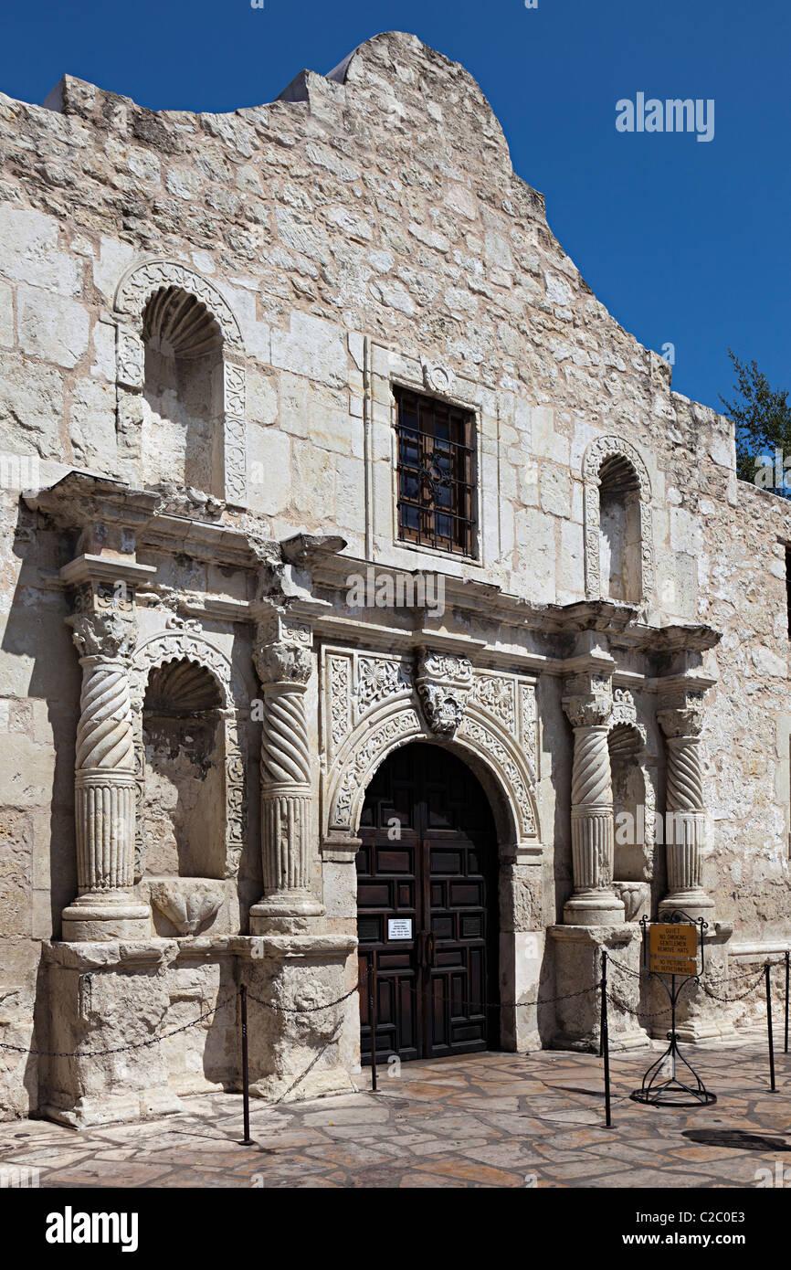 The Alamo San Antonio mission Texas USA - Stock Image